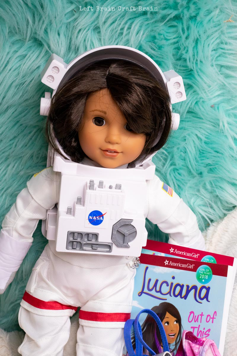 Luciana American Girl astronaut and books