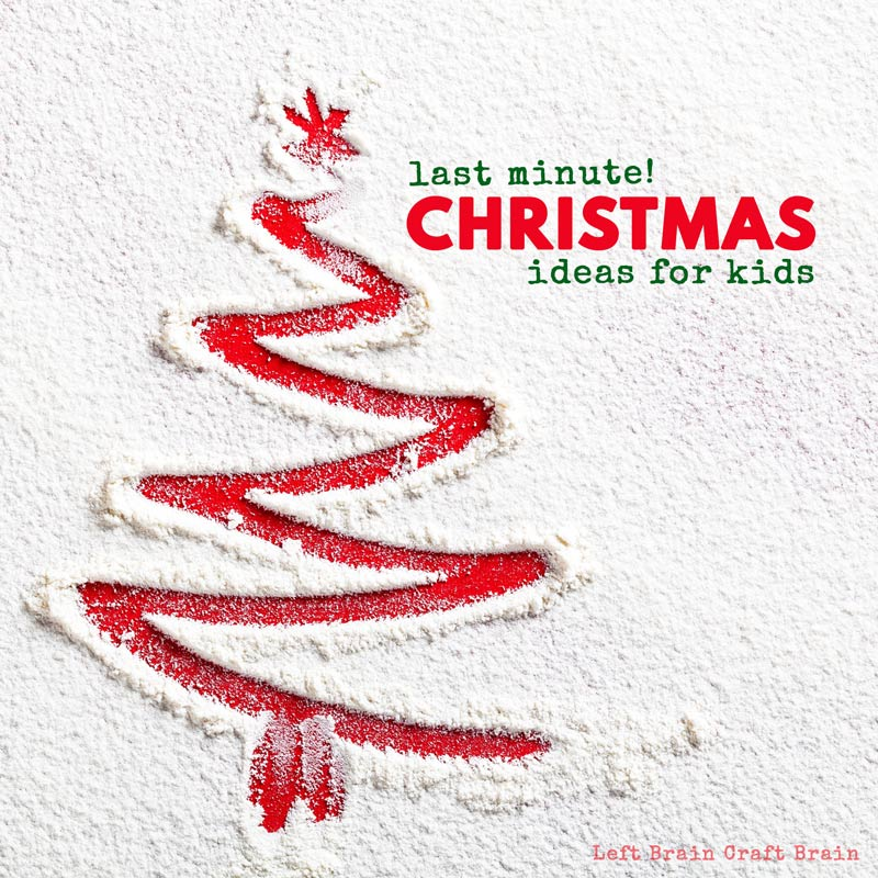 It's the week before Christmas... Do you need some help? I've got a list of Festive and Fun Last Minute Christmas Ideas for Kids. It's packed with crafts, science, baking, and more stuff the kids will love.