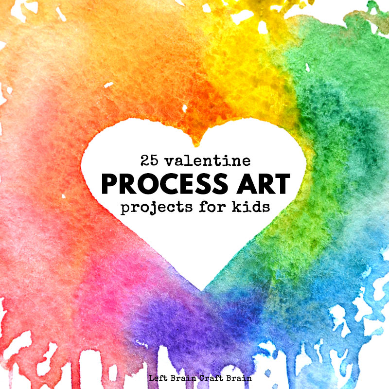 25 Valentine process art projects give kids a chance to explore their artistic side in an open-ended fun to do way. Art projects that are perfect for school or home this Valentine's Day.