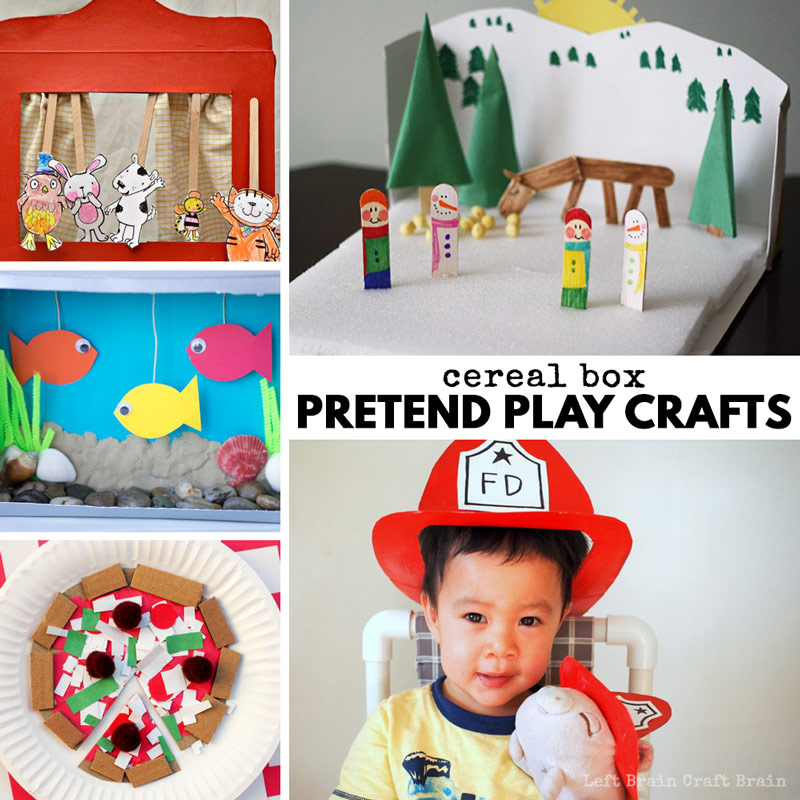 cereal box pretend play crafts