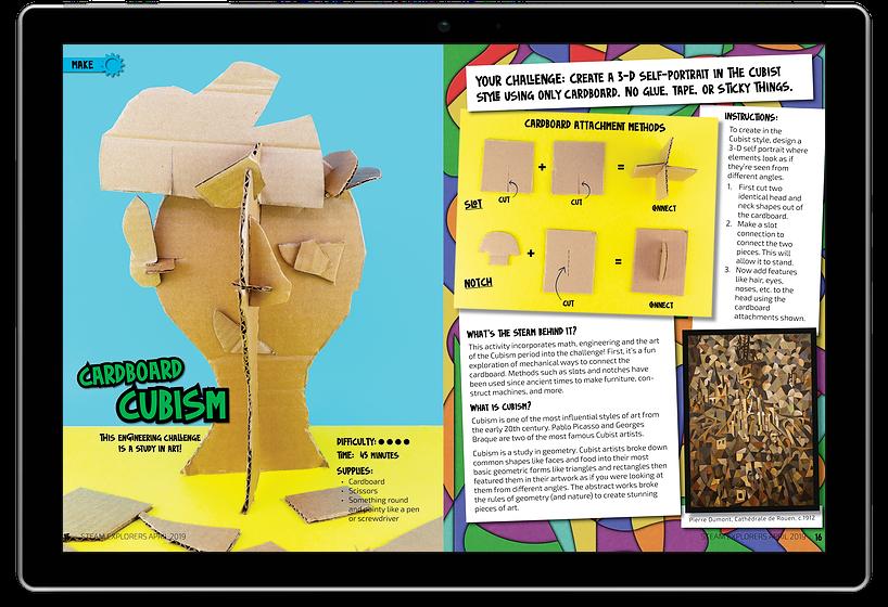 Cardboard Cubism in Ipad