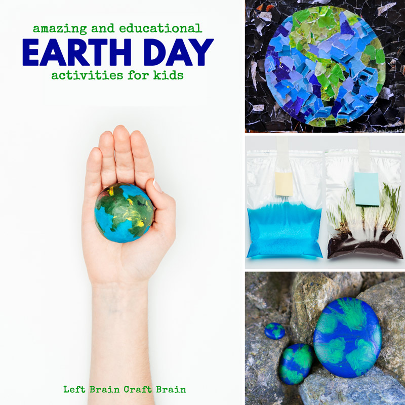 Celebrate the Earth on Earth Day or any day of the year with these fun and hands-on activities for kids. You'll love Earth Day Science, Earth Day Art, Earth Day snacks and more!