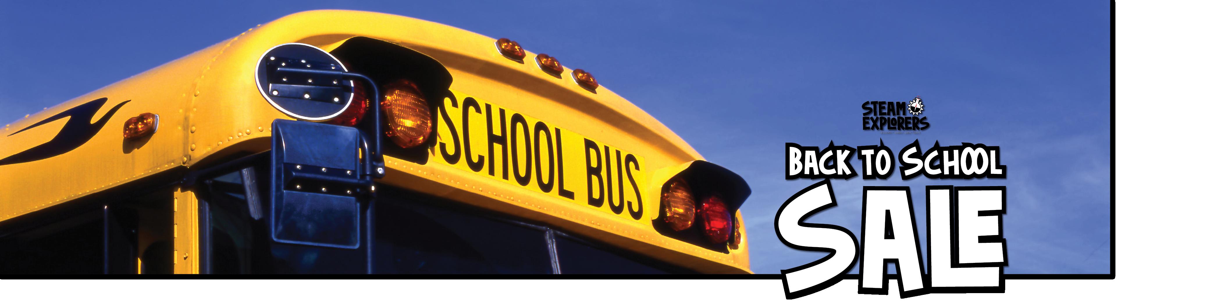 STEAM Explorers Back to School Sale 2000x500 school bus