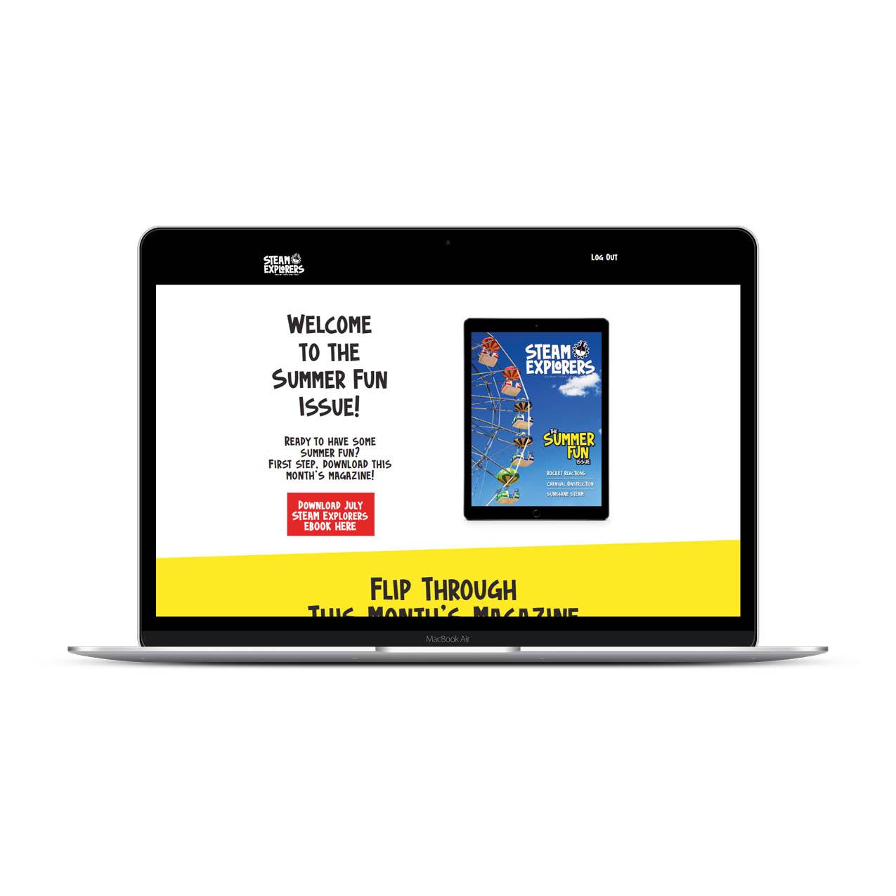 STEAM Explorers Portal in Macbook 1000x1000