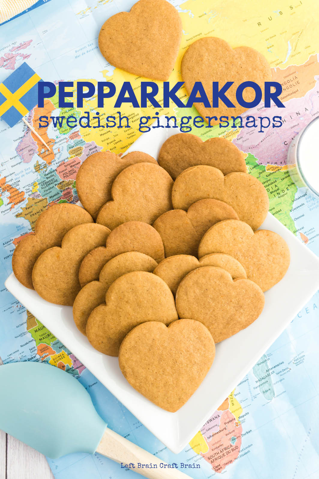 These crispy, sweet pepparkakor or Swedish gingersnap cookies have the perfect amount of spice. The gingernsnaps are perfect for Christmas / holiday giving or snacking any time of the year.