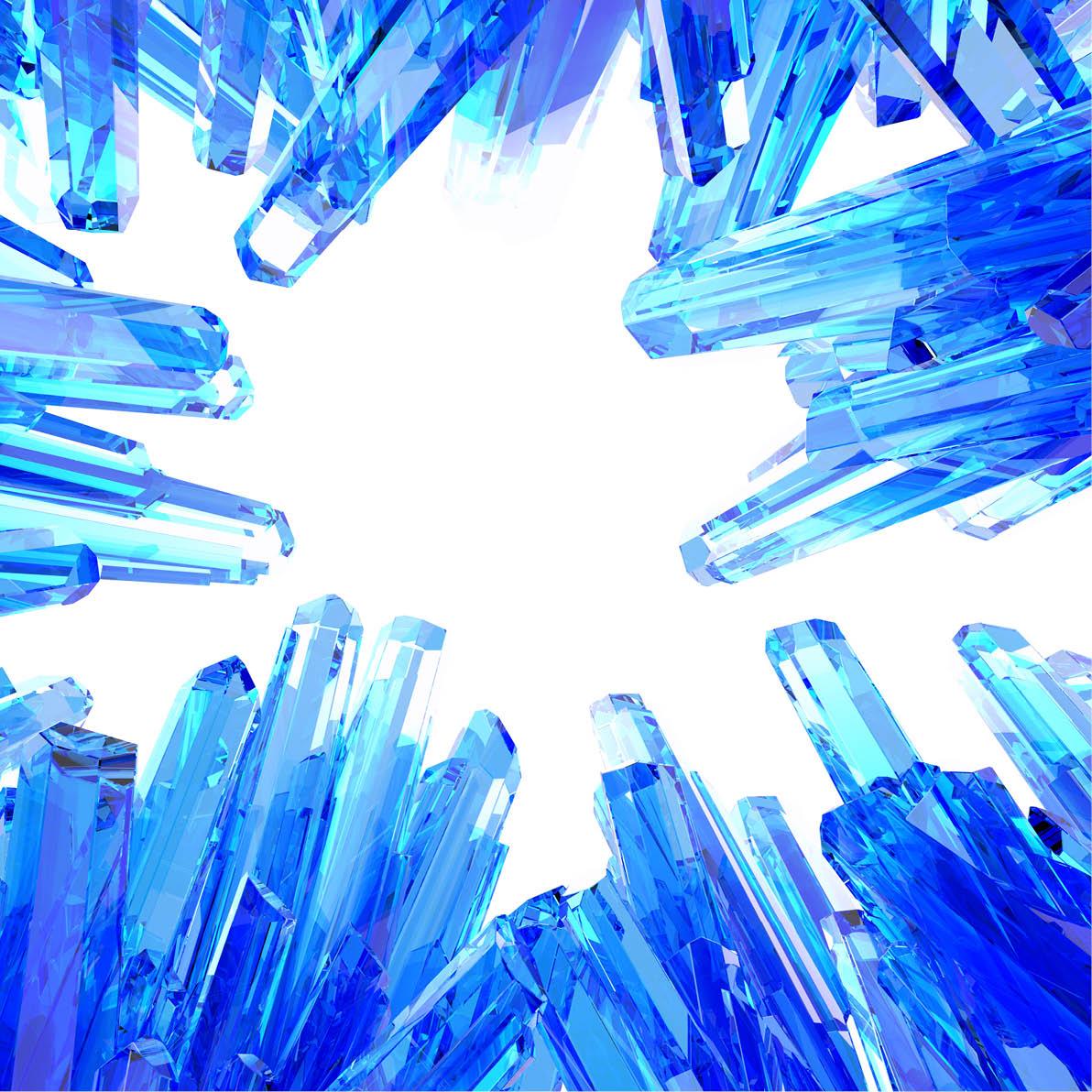 crystals close up
