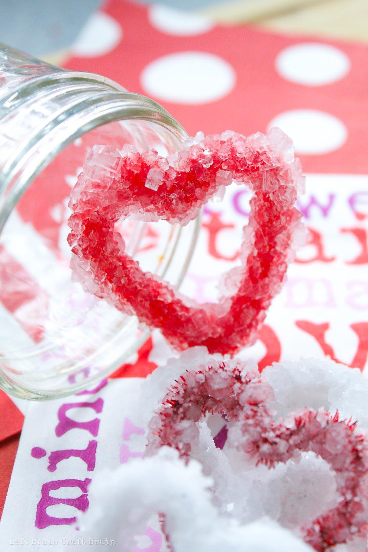 Valentine Heart Borax Crystals