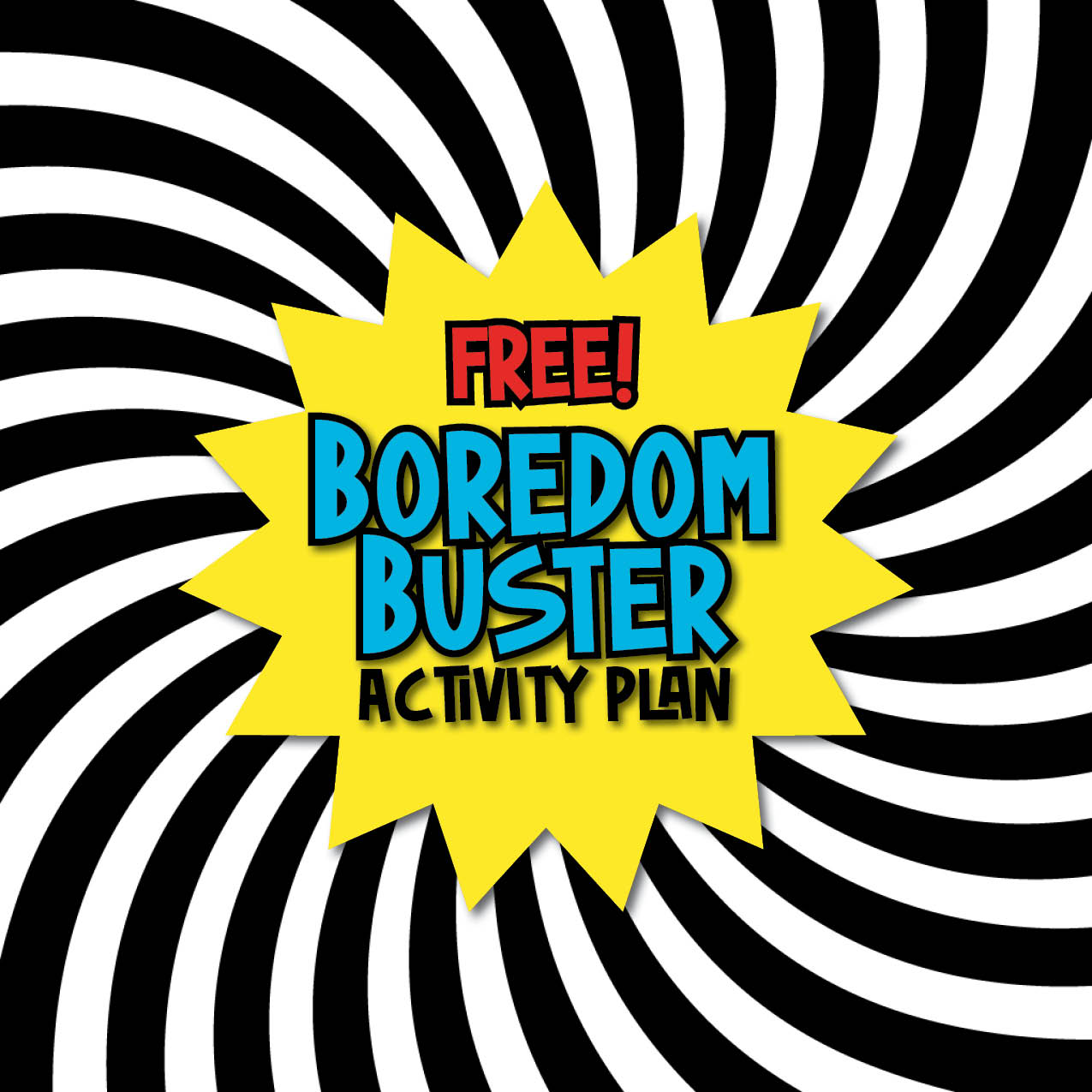 Free Boredom Buster Activity Plan for Kids filled with science, technology, engineering, art, and math