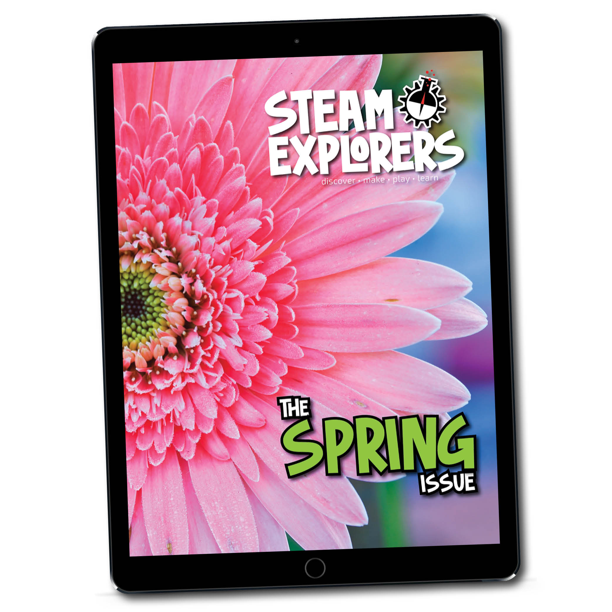 STEAM Explorers Spring ipad Mockup on white 1000x1000