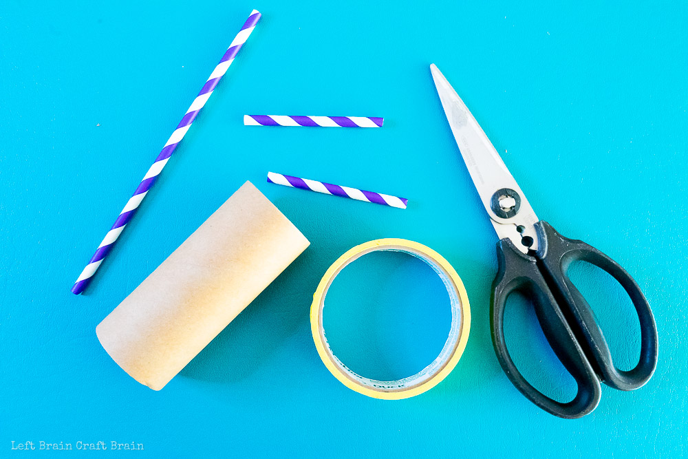 cut straws for toilet paper roll balloon car