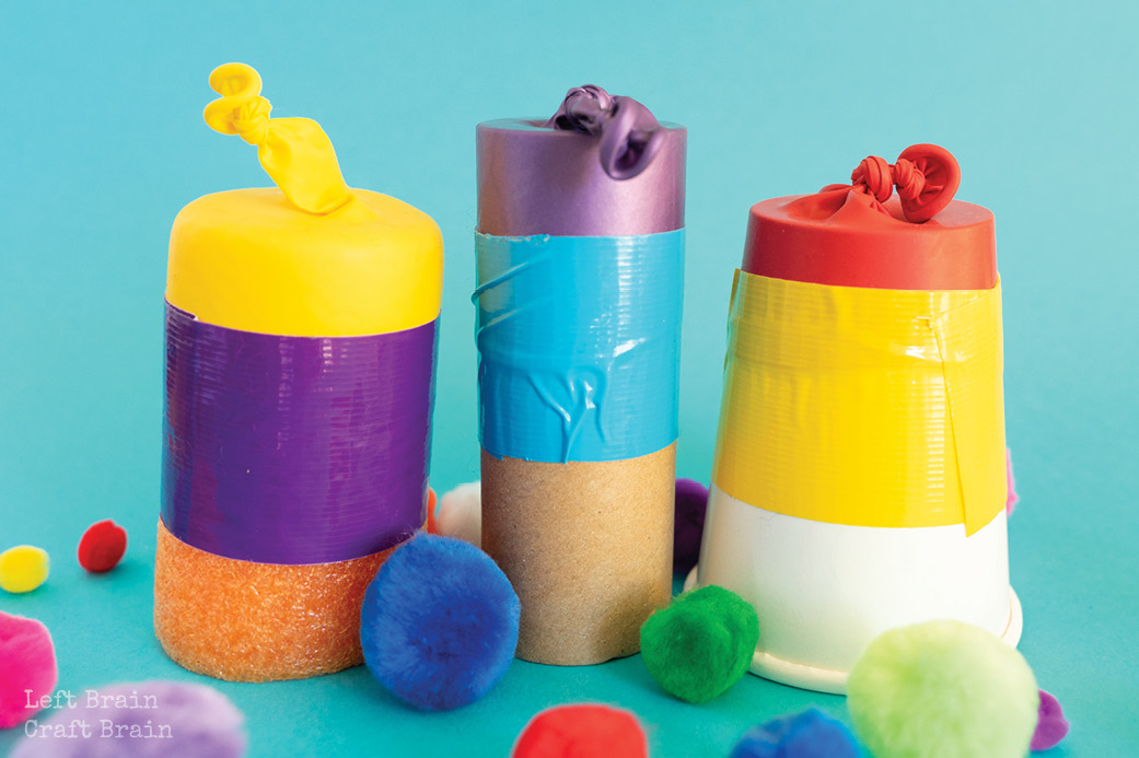 Pom Pom Shooters are a really fun activity with science learning hidden inside! Learn three different ways to make them with supplies you have on hand.