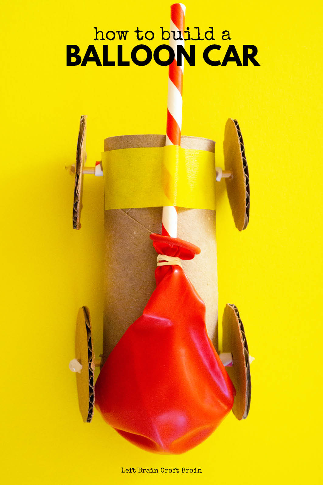 This toilet paper roll balloon car is a fun STEM challenge using recyclables! It's a perfect budget-friendly engineering activity for the classroom, homeschool, and scouts. Kids will learn about simple machines and the science of forces and motion.