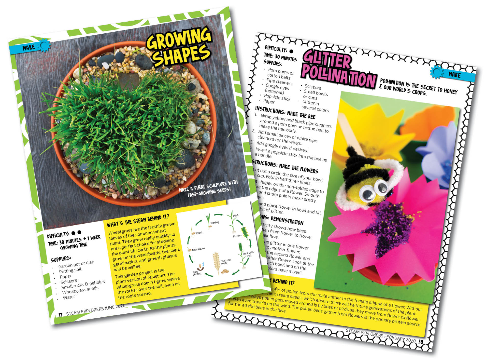 Two Activity Collage - Garden Issue