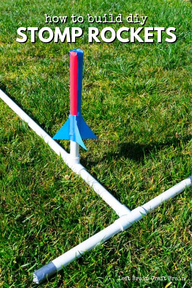 DIY Stomp Rockets are a really fun STEM project for kids and the whole family. Build, stomp, and fly and learn what makes real rockets fly. Perfect for school or scouts, too!