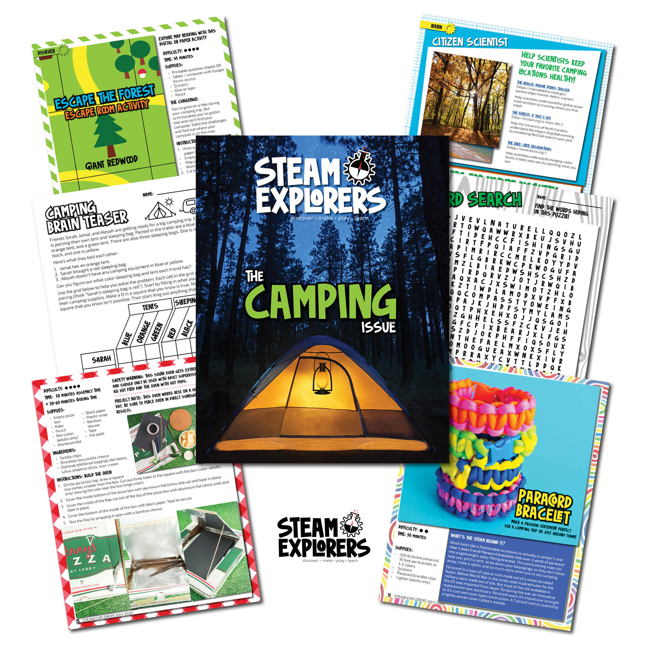 STEAM Explorers - Camping - Page Collage