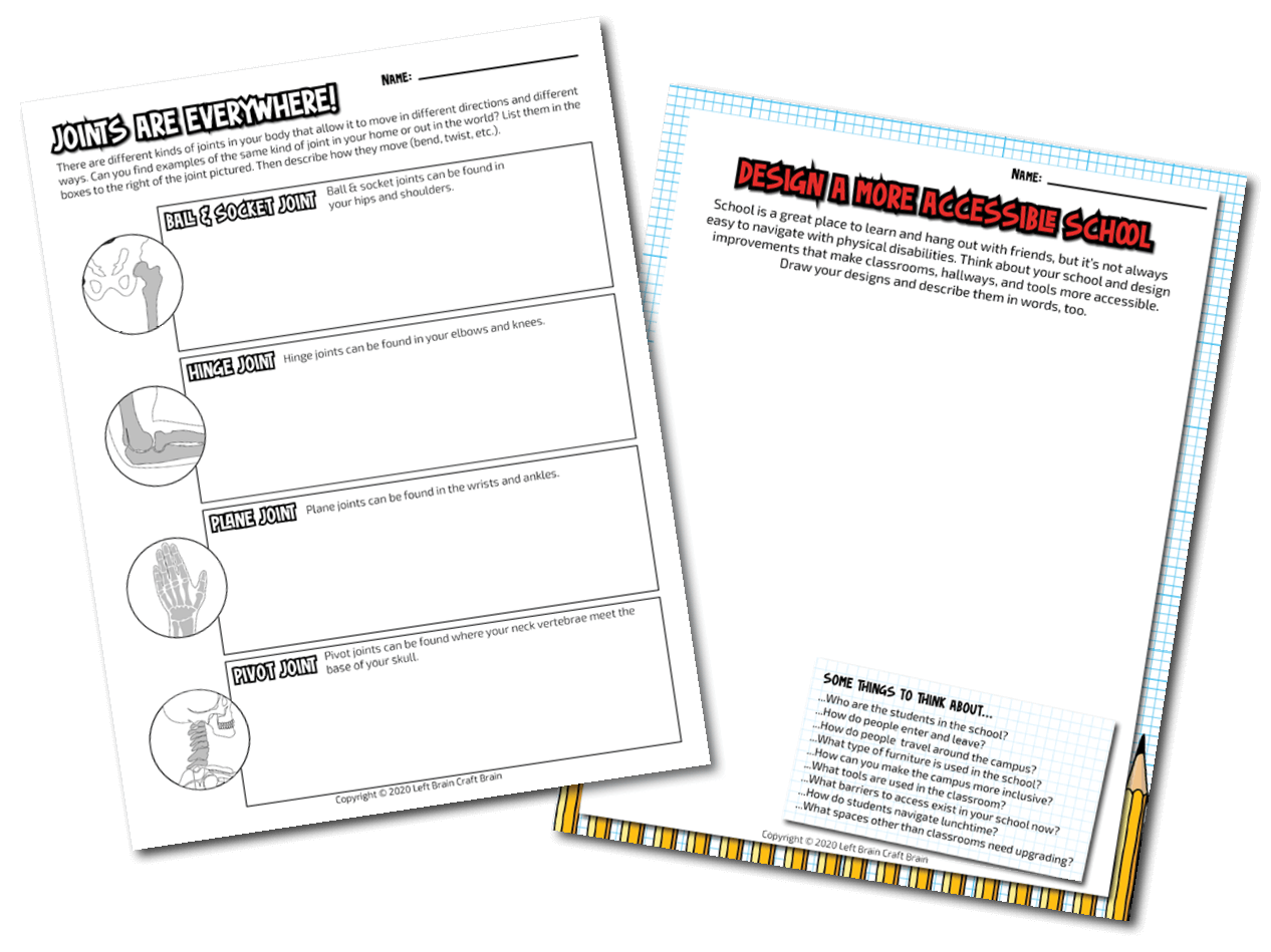 human body printables - two page - transparent