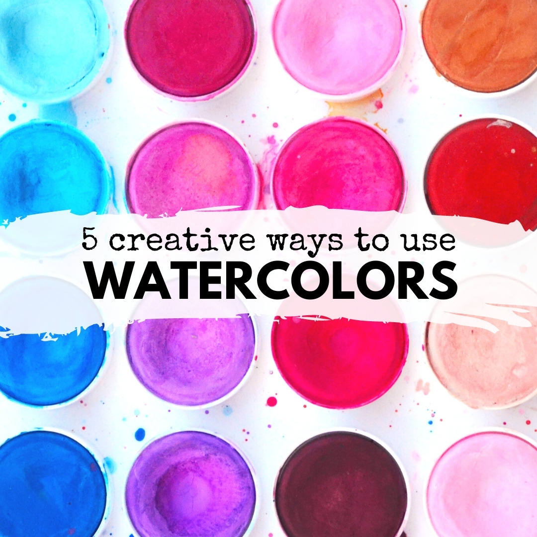 Watercolors are an easy art material to use for so many art and STEAM projects. Try one of these five fun ways to use them at school or at home!