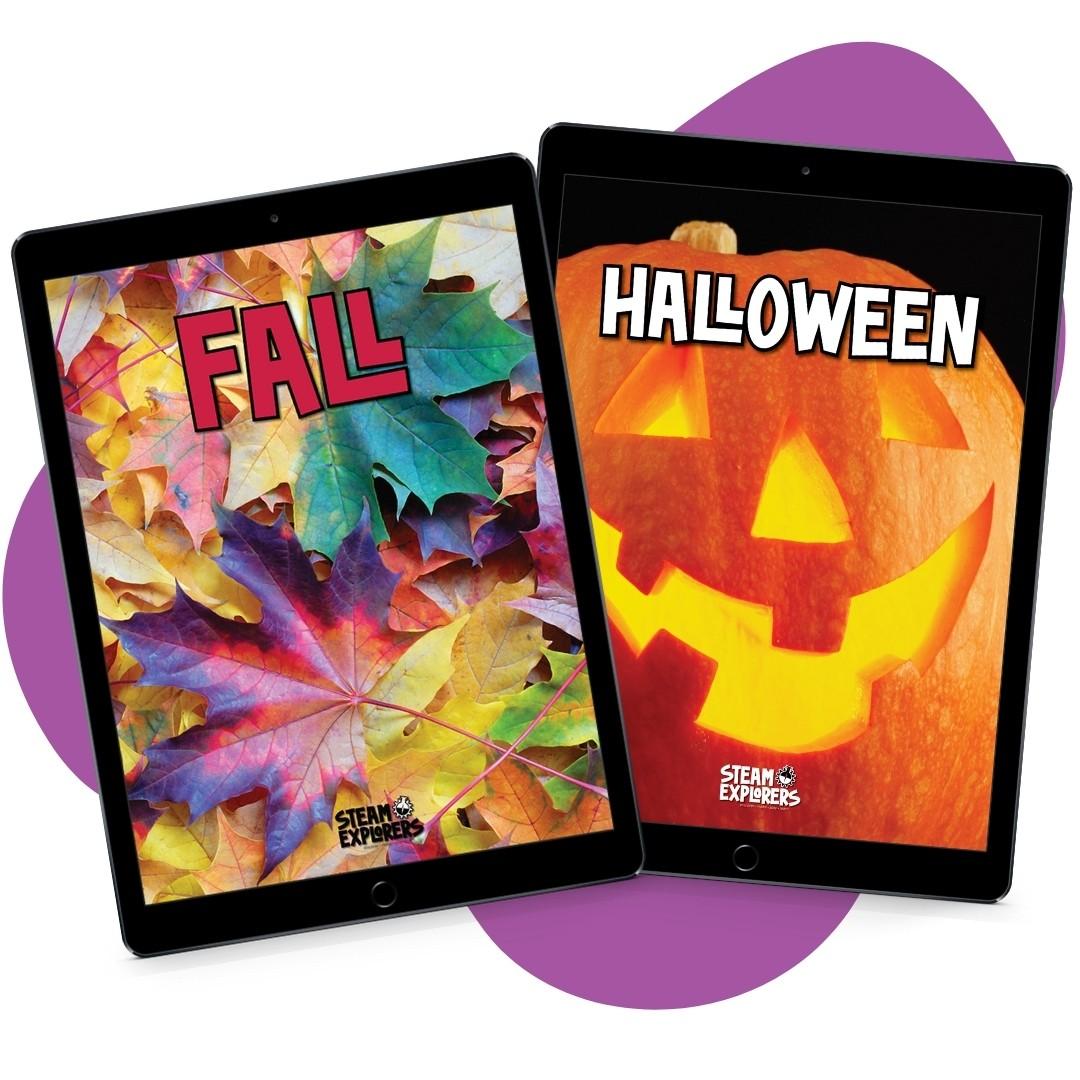 Fall and Halloween Bundle on Purple Blob 1000x1000