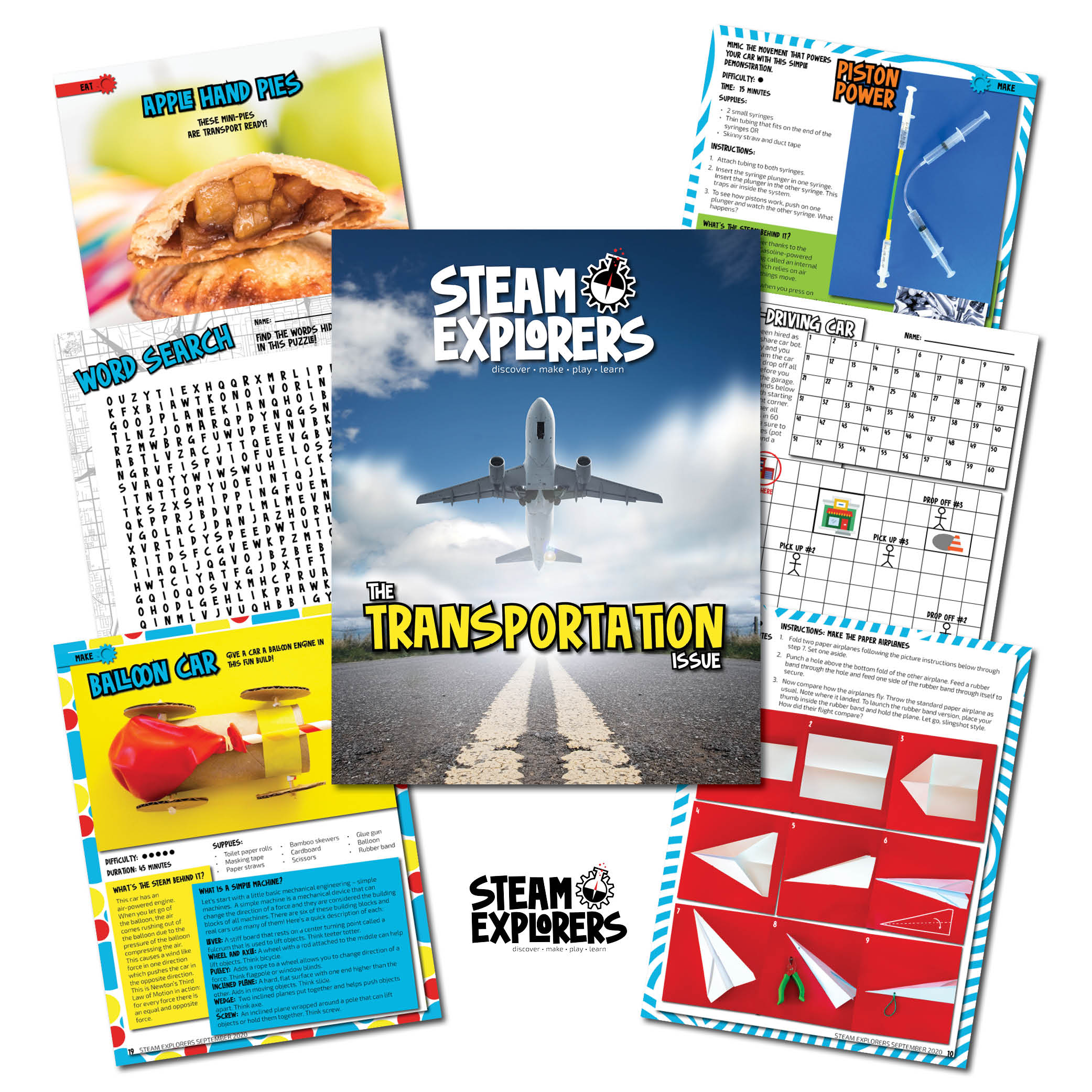steam explorers whats inside collage - transportation